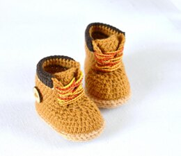 Baby Booties Timberland Style