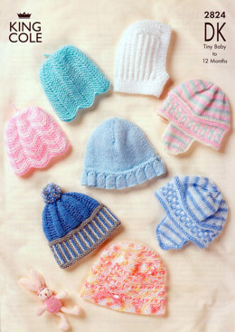 Baby Hats in King Cole Comfort Baby DK - 2824