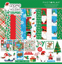 """Photoplay Paper PhotoPlay Collection Pack 12""""X12"""" - Gnome For Christmas"""