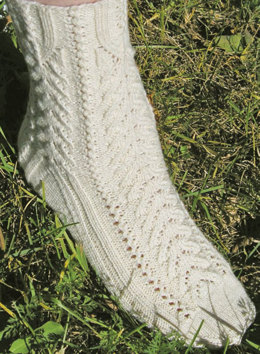Alpine Lace Socks by Knit One Crochet Too Pediwick - 1772 - Downloadable PDF
