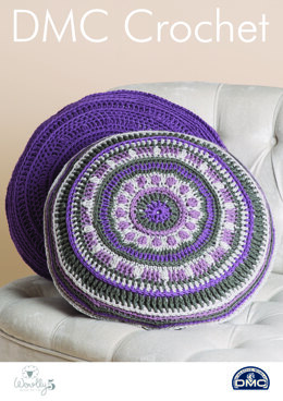 Mind Your Mandala Pillows in DMC Woolly 5 - 15422L/2 - Leaflet