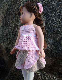 "Spiral skirt for American girl 18"" dolls"