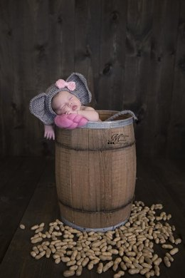 Newborn Elephant Hat and Tail Photo Prop