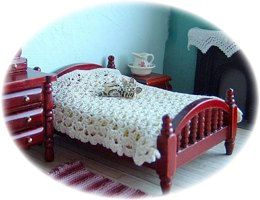 1:24th scale bedspread and blanket