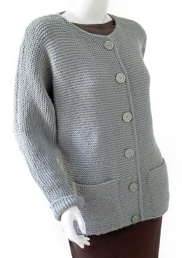 Knit Oh-So-Simple Cardigan in Lion Brand Wool-Ease
