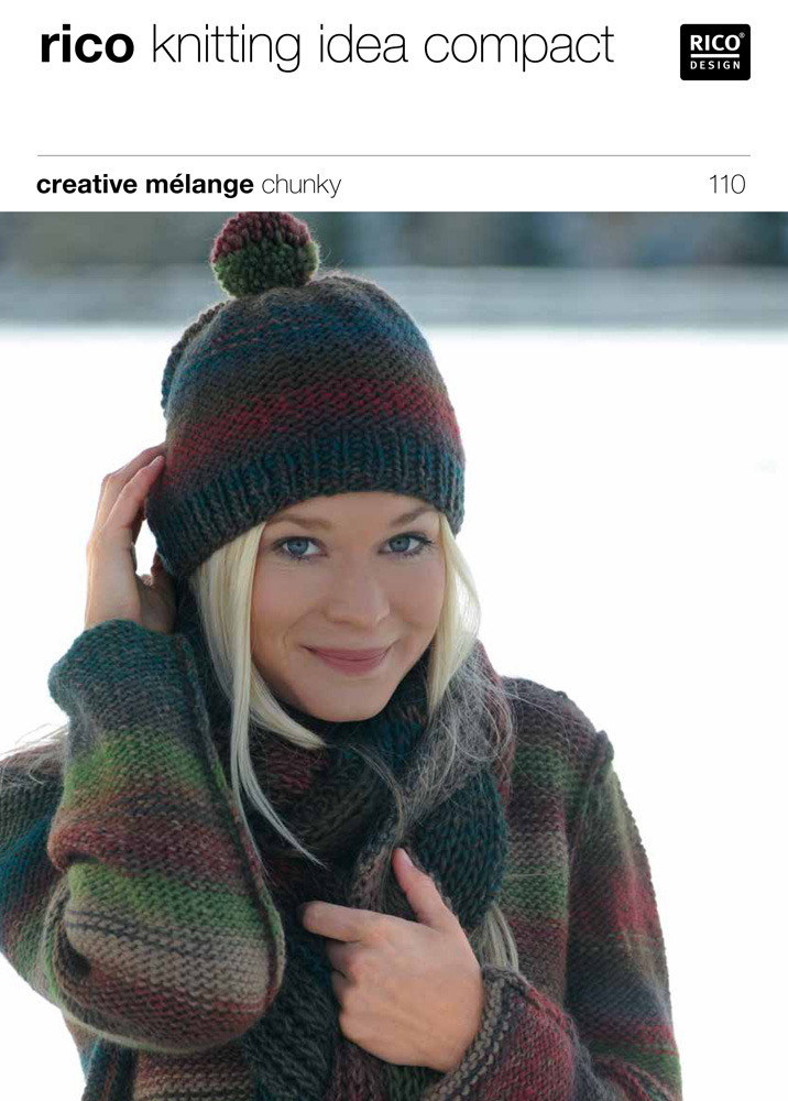 Sweater and Hat in Rico Creative Melange Chunky - 110 Knitting Patterns L...