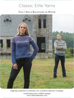 Faith Pullover in Classic Elite Yarns Wynter and Mountaintop Blackthorn - Downloadable PDF