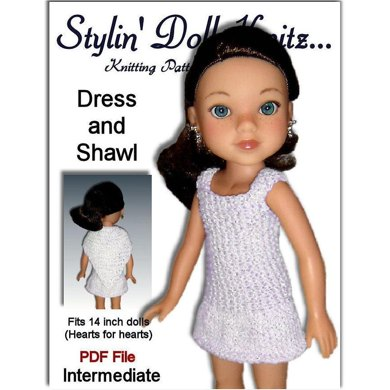 Fits Hearts for Hearts Doll. Dress and Shawl, 233
