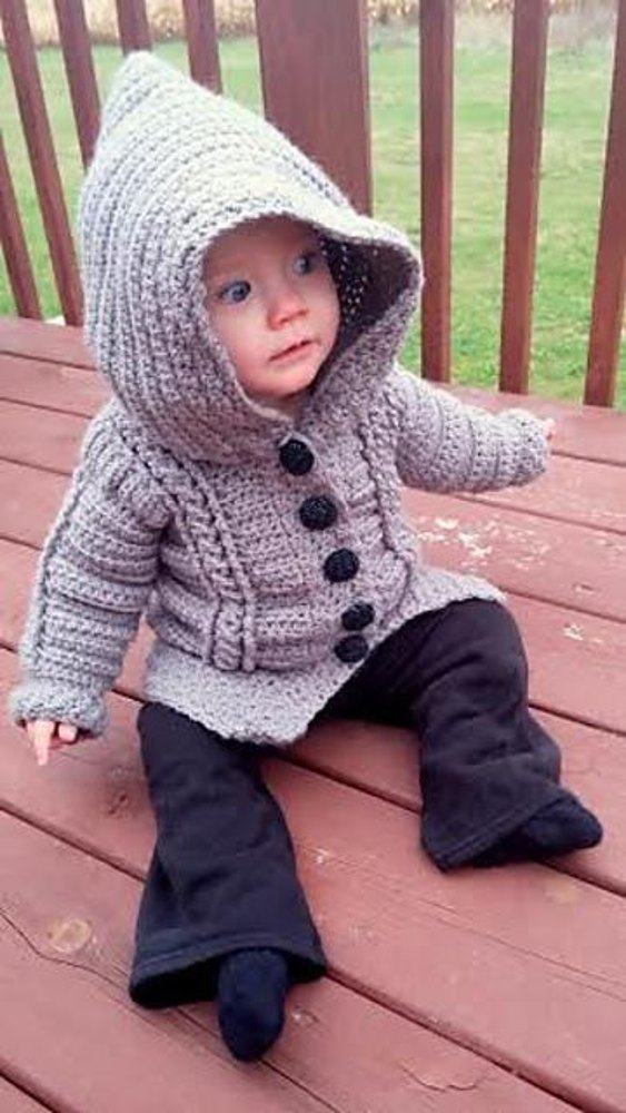 Chilly Cables Coatigan Baby Crochet Pattern By Sonya Blackstone
