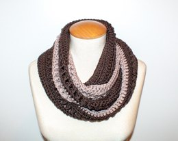 Coffee With Cream Infinity Scarf