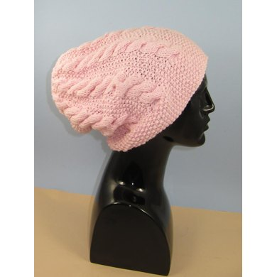 Chunky Cable Slouch Hat