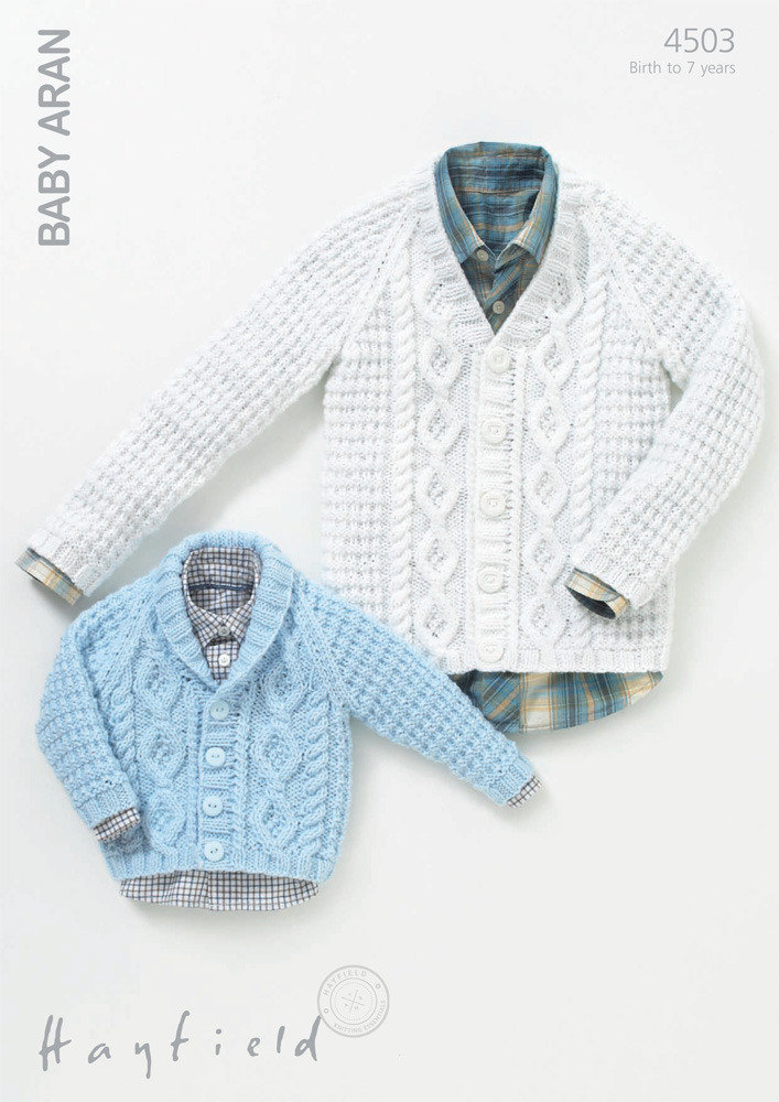 Hayfield Knitting Patterns For Babies : Cardigans in Hayfield Baby Aran - 4503 - Downloadable PDF