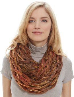 Stocking Stitch Arm Knit Cowl in Patons Decor