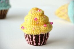 Chocolate Banana Cupcake Crochet Pattern, Cupcake Amigurumi Pattern, Food Crochet Pattern, Food Amigurumi
