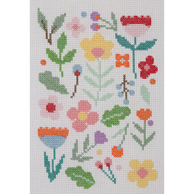 Anchor Starter: Maggie Magoo Scatter Floral Cross Stitch Kit