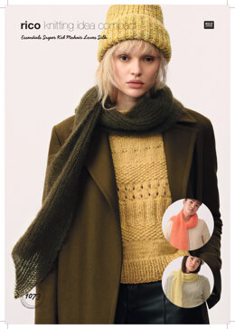 Women's Scarf in Rico Essentials Super Kid Mohair Loves Silk  - 1073 - Downloadable PDF