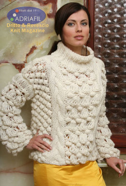 Siberia Pullover in Adriafil Candy - Downloadable PDF