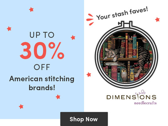 Up to 30 percent off American stitching brands!