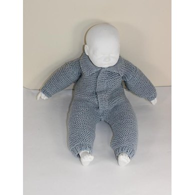 Baby Aran Simple Garter Stitch  Collar Onesie
