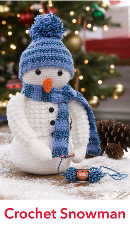 Crochet Snowman in Red Heart Lisa - LW4816EN