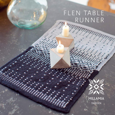 Flen Table Runner in MillaMia Naturally Soft Merino - Downloadable PDF