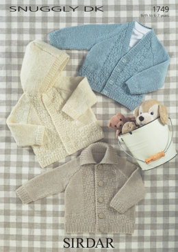 Babies and Children Jackets in Sirdar Snuggly DK - 1749