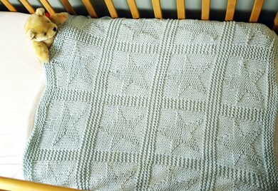 Easy chunky baby blanket with star pattern