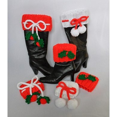 Festive Christmas Boot Toppers Cuffs
