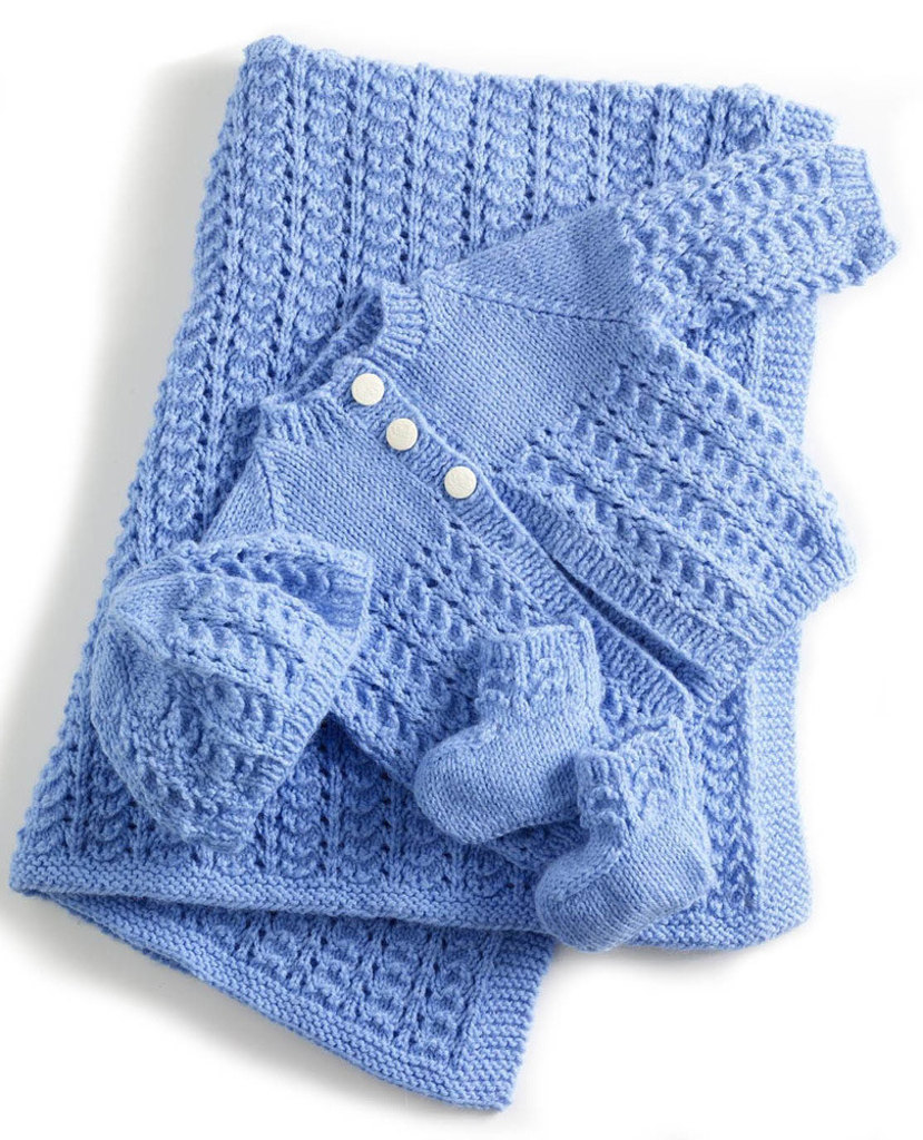 Free knitting patterns loveknitting lullaby layette in lion brand babysoft 90060ad bankloansurffo Gallery
