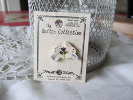 Mill Hill Button 86319 - White Leaping Bunny