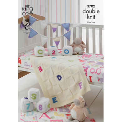 Blocks, Bunting and Blanket in King Cole DK - 3702