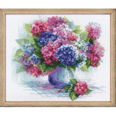 Riolis Hydrangea Cross Stitch Kit
