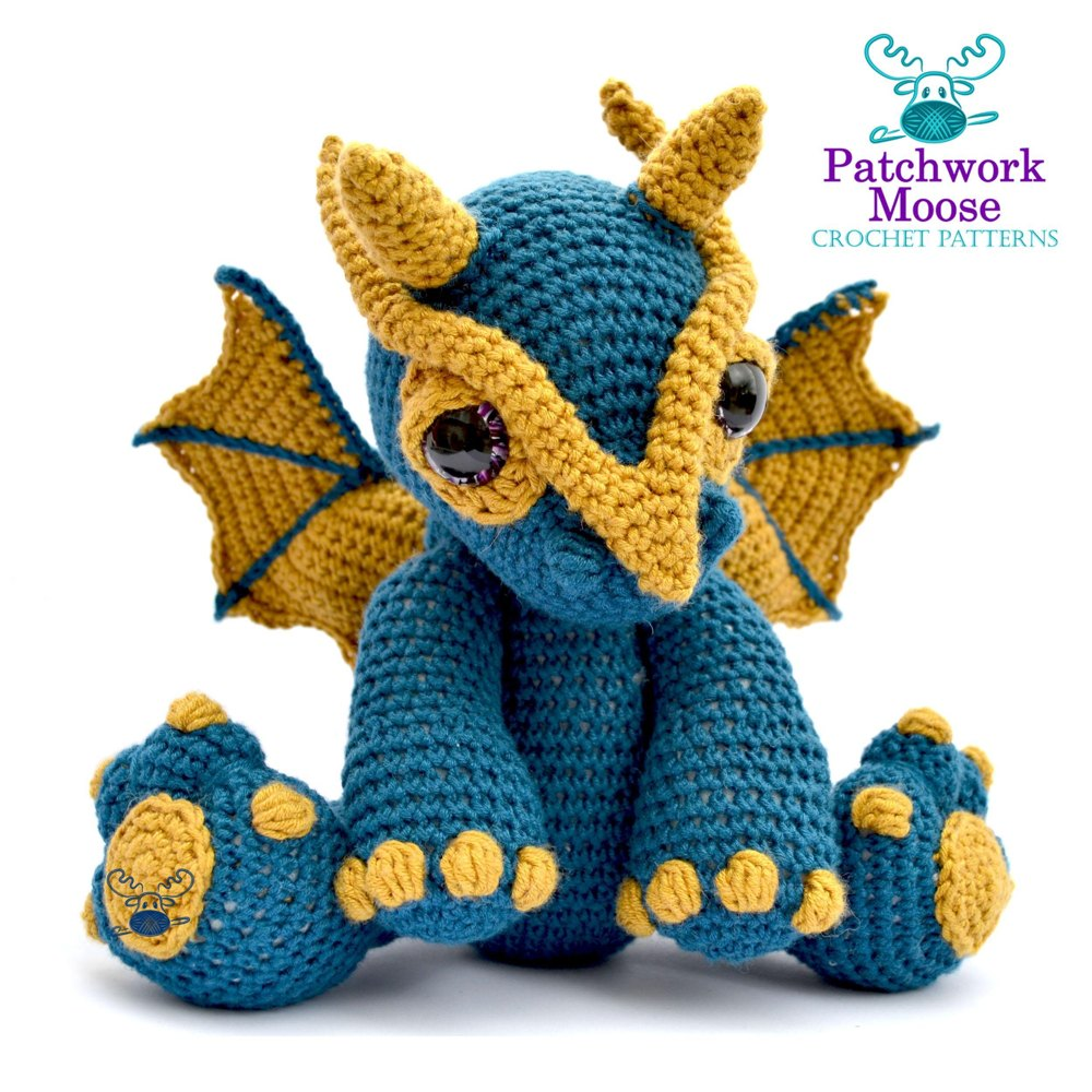 Amigurumi Crochet Dragon Pattern | Supergurumi | 1000x1000