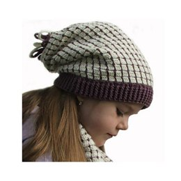 Soft Squares Hat and Scarf Set