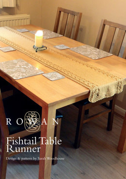 Fishtail Table Runner in Rowan Pure Wool Worsted