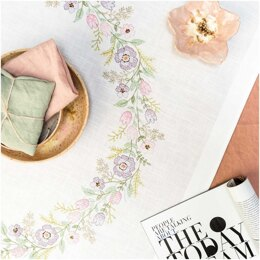 Rico Flower Wreath Embroidery Tablecloth Kit