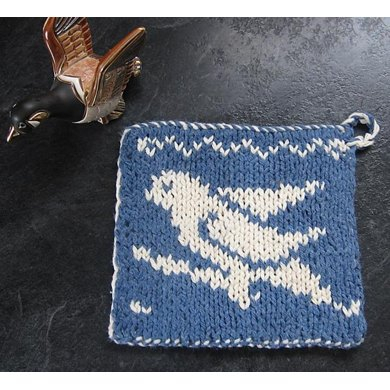 Double Knit Bird Dishcloth HotPad Lessons