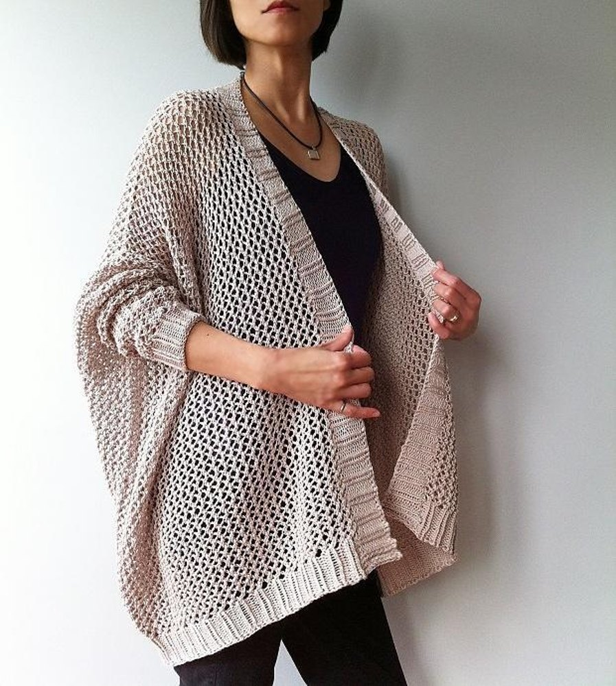 Angelina - easy trendy cardigan (knit) Knitting pattern by ...