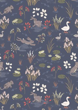Lewis & Irene Water Meadow Navy Cut to Length