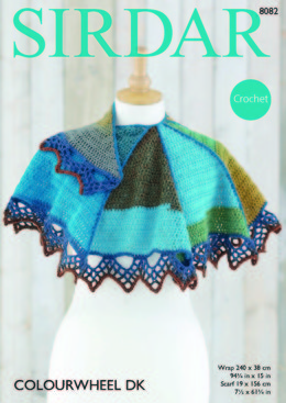 Wrap & Scarf in Sirdar Colourwheel DK - 8082 - Downloadable PDF