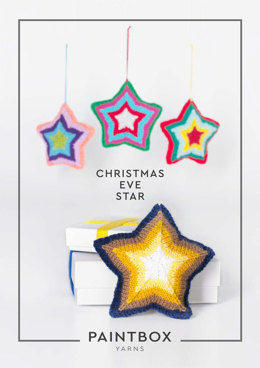 """Christmas Eve Star"" - Knitting Pattern For Christmas in Paintbox Yarns Simply DK - DK-XMAS-KNIT-001"
