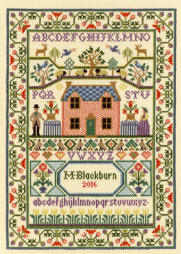 Bothy Threads Country Cottage Sampler Cross Stitch Kit