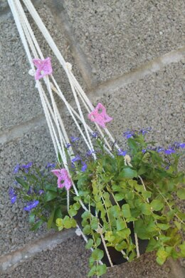 Plant Pot Hanger with Butterfly Trim