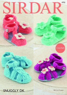 Sandals in Sirdar Snuggly DK - 4752 - Downloadable PDF