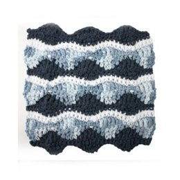 Catch a Wave Dishcloth in Lily Sugar 'n Cream Solids
