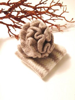 Felted Bath Puff and Cloth