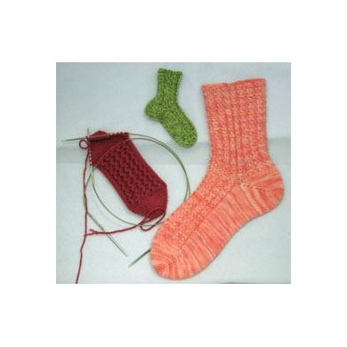 Mix-and-Match Rib Toe-Up Socks