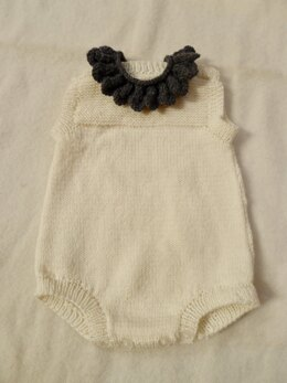 Romper with Lace Collar