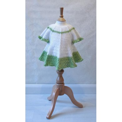 Summer Dress With Full Circle Skirt Cap Sleeves Crochet Pattern By