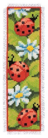 Vervaco Ladybirds and Daisies Bookmark Cross Stitch Kit - 6cm x 20cm